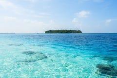 En härlig ö i Maldiverna Royaltyfri Foto