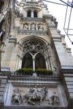 En härlig detalj av Rathausen (stadshus) i Wien Royaltyfria Bilder
