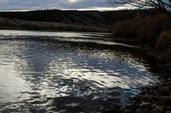 En härlig flod för Wyoming morgonland Arkivbilder