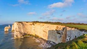 En härlig fotografifläck på den södra västkusten av England, på den jurassic kusten arkivbild