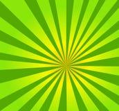 En härlig grön radiell bakgrund stock illustrationer
