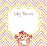 En härlig illustration för dina baby showerinbjudningar vektor illustrationer