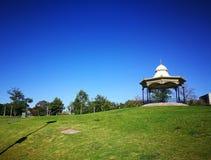 En härlig kulle för grönt gräs på fläderna parkerar, Adelaide, södra Australien arkivfoton
