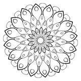 En härlig monokrom mandala Sexhörnig stjärna En modell för a Royaltyfri Fotografi