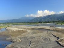 En härlig Palu flod under den regniga säsongen Royaltyfria Foton