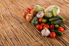 En härlig stilleben av mogna grönsaker Royaltyfri Bild