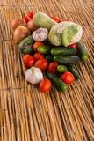 En härlig stilleben av mogna grönsaker Royaltyfria Foton