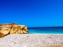 En härlig strand i Oman Arkivfoto