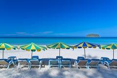 En härlig strand på den Kata stranden, Arkivfoto