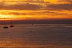 En härlig sunsetat Sestri Levante, Sestri Levante, Genova, Liguria, Italien royaltyfri foto