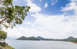 En härlig turist- destination av Kanchanaburi, Thailand Arkivbilder