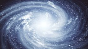 En härlig utrymmeplats med en roterande galax arkivfilmer