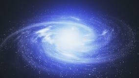 En härlig utrymmeplats med en roterande galax stock video