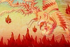 En härliga phoenix i flyg Royaltyfria Bilder