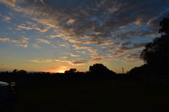 En härliga södra Georgia Sunset Arkivbilder
