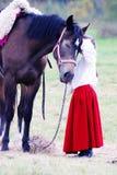 En hästoutroorsstående Royaltyfri Bild
