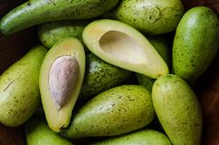 En hög av avokadon royaltyfri foto