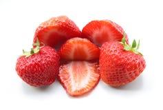 En hög av jordgubbar Arkivfoton
