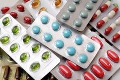 En hög av medicinen Fotografering för Bildbyråer