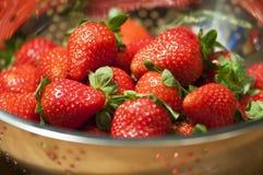 En hög av nytt trawberry Royaltyfri Bild