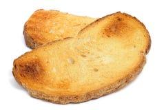 Skivor av rostat bröd Royaltyfri Bild