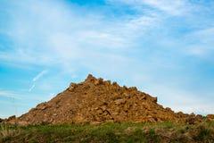 En hög av smuts Royaltyfri Fotografi