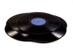 En hög av vinyl Arkivfoton