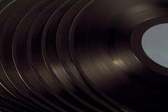 En hög av vinyl Arkivbild