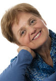 En hög kvinna - över gammala sextio år Arkivbilder
