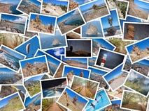 En högcollage av mina bästa loppfoto av Tenerife, kanariefågelö, Spanien Version 1 Arkivbilder