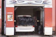 Japansk bilwash bearbetar med maskin Royaltyfria Bilder