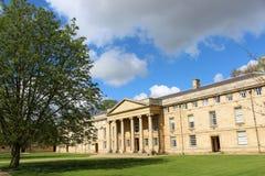 En högskola i Cambridge Arkivfoto