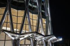 En hörnsikt av Kina resurser står högt, colloquially bekant som vårbambu, är en 392 meter 1286 1 ft supertall skyskrapa royaltyfri fotografi