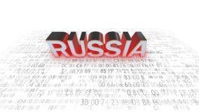 En hacker i Ryssland Är skyldiga Ryssland Säkerhet vektor illustrationer