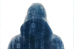 En hacker på arbete Royaltyfri Fotografi