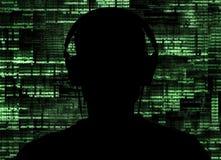 En hacker på arbete Royaltyfri Foto