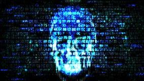 En hacker på internet Hacka förtrolig information vektor illustrationer