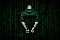 En hacker på stol Fotografering för Bildbyråer