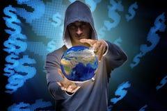En hackerdataintrånget som packar ihop det finansiella systemet Royaltyfri Fotografi