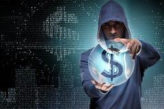 En hackerdataintrånget som packar ihop det finansiella systemet Fotografering för Bildbyråer