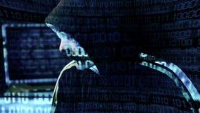 En hackerstående arkivfilmer