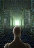 En hackervärld Arkivfoton