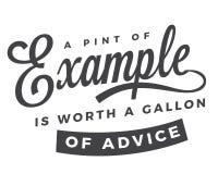 En halv liter av exemplet är värde per gal. av rådgivning royaltyfri illustrationer
