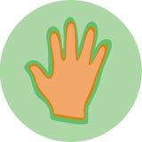 En hand på en cirkel Vektor Illustrationer