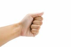 En hand på vit bakgrund Royaltyfri Foto