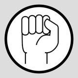 En hand som gripas hårt om in i en nävesymbol Royaltyfri Foto