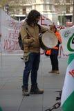 En handelsresande i en protest 42 arkivfoto