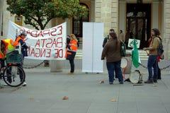 En handelsresande i en protest 46 royaltyfria bilder
