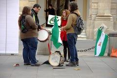 En handelsresande i en protest 54 royaltyfri fotografi