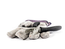 En handske och plattång Fotografering för Bildbyråer